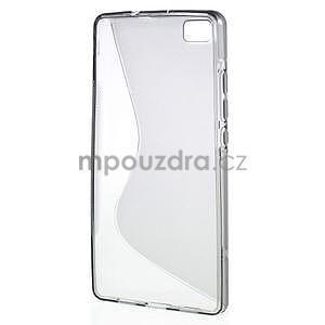 Šedý S-line gelový obal na Huawei Ascend P8 Lite - 2