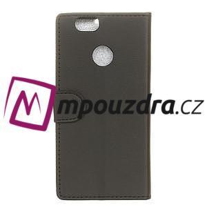 Wally PU kožené puzdro na mobil Huawei Nova - čierne - 2