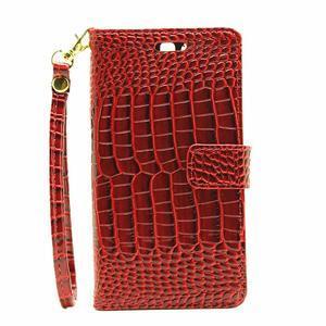 Croco peněženkové pouzdro na Huawei P9 - červené - 2