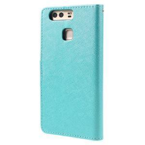 Crossy peněženkové pouzdro na Huawei P9 - modré - 2