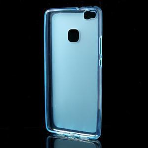 Matný gélový obal pre mobil Huawei P9 lite - modrý - 2