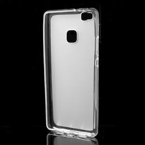 Matný gélový obal pre mobil Huawei P9 lite - transparentné - 2