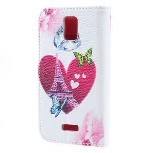 Peňaženkové puzdro na mobil Huawei Y3 a Y360 - srdce - 2