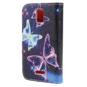 Peněženkové pouzdro na mobil Huawei Y3 a Y360 - kouzelní motýlci - 2