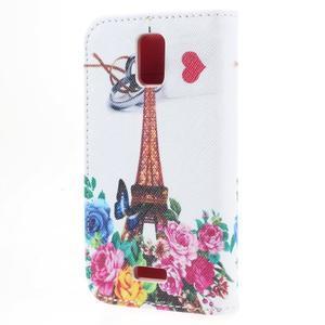 Peněženkové pouzdro na mobil Huawei Y3 a Y360 - Eiffelova věž - 2