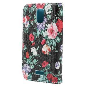 Peňaženkové puzdro na mobil Huawei Y3 a Y360 - kvetiny - 2