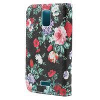 Peněženkové pouzdro na mobil Huawei Y3 a Y360 - květiny - 2/7