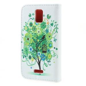 Peněženkové pouzdro na mobil Huawei Y3 a Y360 - zelený strom - 2