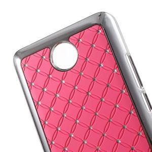 Drahokamový plastový kryt na Huawei Y635 -  ružový - 2