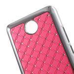 Drahokamový plastový kryt na Huawei Y635 -  ružový - 2/5