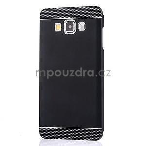 Čierny kovový kryt na Samsung Galaxy A3 - 2