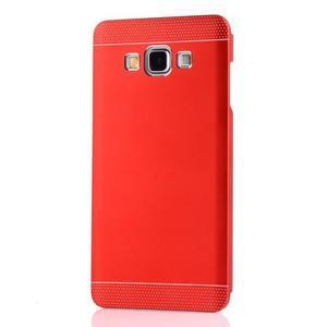 Červený kovový kryt pre Samsung Galaxy A3 - 2