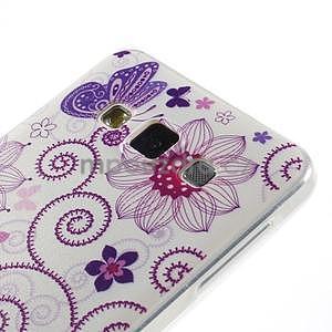 Gélový obal pre Samsung Galaxy A3    - motýl a kruhy - 2