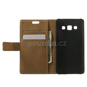 Peňaženkové puzdro pre Samsung Galaxy A3    - mačička - 2