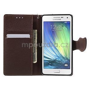 Červené/hnedé kožené puzdro na Samsung Galaxy A5 - 2