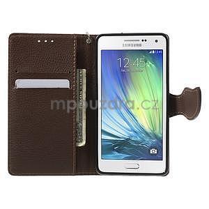 Zelené/hnedé kožené puzdro na Samsung Galaxy A5 - 2