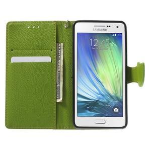 hnedé/zelené kožené puzdro pre Samsung Galaxy A5 - 2