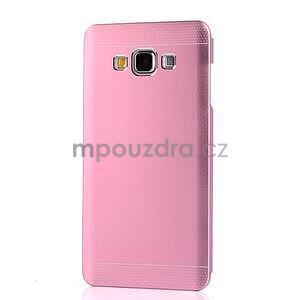 Růžový kovový kryt pre Samsung Galaxy A5 - 2