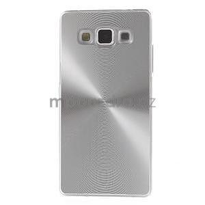 Strieborný metalický kryt na Samsung Galaxy A5 - 2