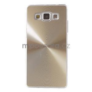 Zlatý metalický kryt pre Samsung Galaxy A5 - 2