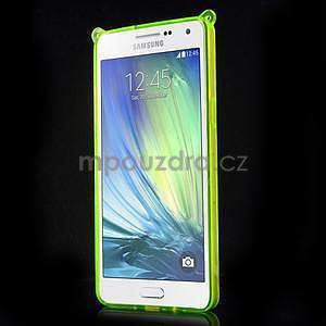 Zelený gélový obal s nastavitelným stojánkem na Samsung Galaxy A5 - 2