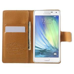 Peňaženkové zapínací puzdro na Samsung Galaxy A5 - farebné květiny - 2