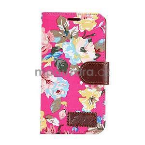 Květinové peňaženkové puzdro na Samsung Galaxy A5 - rose - 2
