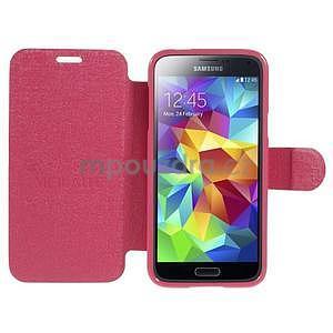 Rose zapínací pouzdro na Samsung Galaxy S5 mini - 2