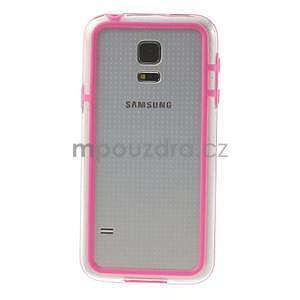 Rose gélový kryt s plastovými lemy pre Samsung Galaxy S5 mini - 2