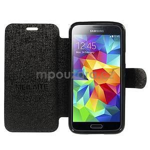 Černé zapínací pouzdro na Samsung Galaxy S5 mini - 2