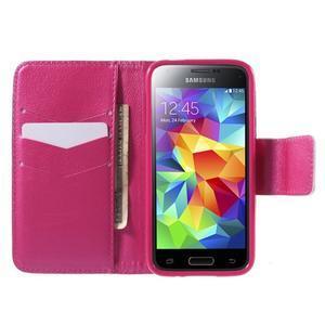 Zapínací peňaženkové puzdro pre Samsung Galaxy S5 mini - oko - 2