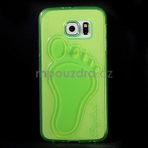 Protiskluzový gélový kryt pre Samsung Galaxy S6 - zelený - 2
