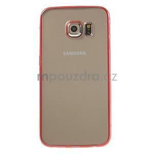 Rose hybridný gélový obal pre Samsung Galaxy S6 Edge - 2
