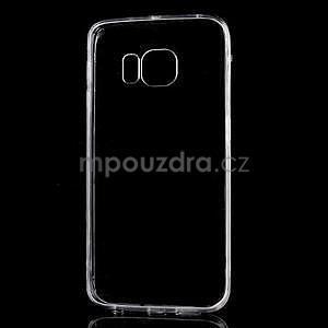 Šedý hybridný gélový obal na Samsung Galaxy S6 Edge - 2