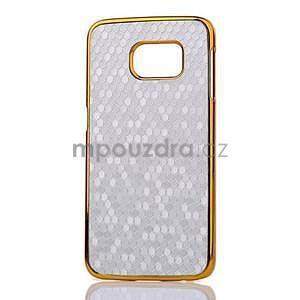 Elegantný plastový kryt na Samsung Galaxy S6 Edge - strieborný - 2