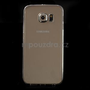 Transparentní hybridný gélový obal na Samsung Galaxy S6 Edge - 2