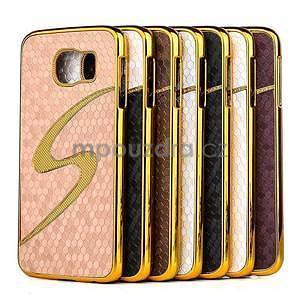 Elegantný plastový kryt pre Samung Galaxy S6 - champagne - 2