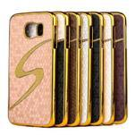 Elegantný plastový kryt pre Samung Galaxy S6 - champagne - 2/2
