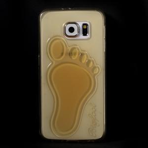 Protiskluzový gélový kryt pre Samsung Galaxy S6 - zlatý - 2