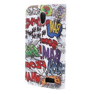 Styles peňaženkové puzdro pre mobil Lenovo A319 - graffiti - 2