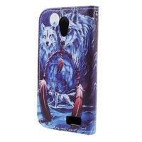 Styles peňaženkové puzdro pre mobil Lenovo A319 - vlci - 2/6