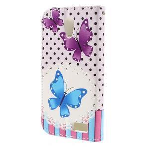 Styles peňaženkové puzdro pre mobil Lenovo A319 - motýľe - 2