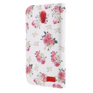 Styles peňaženkové puzdro pre mobil Lenovo A319 - kvetiny - 2