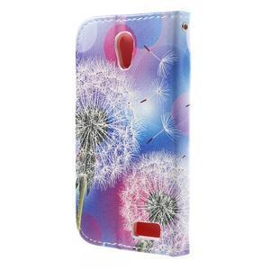 Styles peňaženkové puzdro pre mobil Lenovo A319 - púpava - 2