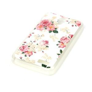 Softy gélový obal pre mobil Lenovo A319 - kvetiny - 2