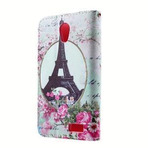 Peňaženkové puzdro pre mobil Lenovo A319 - Eiffelova veža - 2