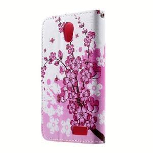 Peňaženkové puzdro pre mobil Lenovo A319 - kvitnúca vetva - 2