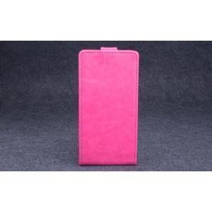 PU kožené flipové puzdro pre Lenovo A536 - rose - 2