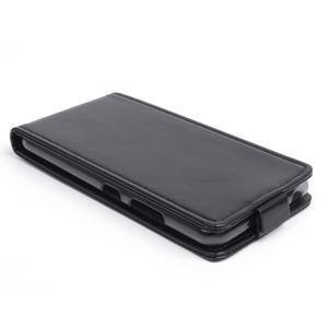 Flipové koženkové puzdro pre Lenovo S60 - čierné - 2