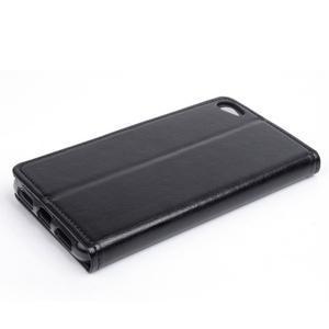 Peňaženkové PU kožené puzdro pre Lenovo S60 - čierné - 2